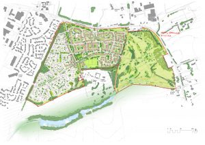 Illustrative masterplan Sutton Road, Maidstone